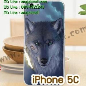 M750-02 เคสแข็ง iPhone 5C พิมพ์ลาย Wolf