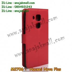 M2706-03 เคสฝาพับ Huawei Nova Plus สีแดง