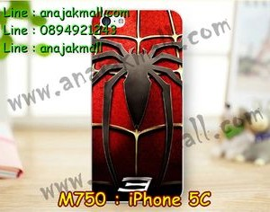 M750-18 เคสแข็ง iPhone 5C ลาย Spider