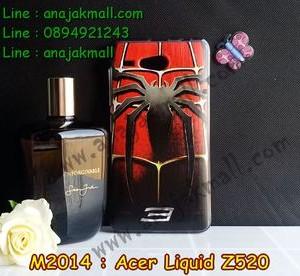 M2014-37 เคสยาง Acer Liquid Z520 ลาย Spider