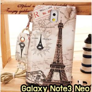 M949-04 ซองหนัง Samsung Galaxy Note3 Neo ลายหอไอเฟล