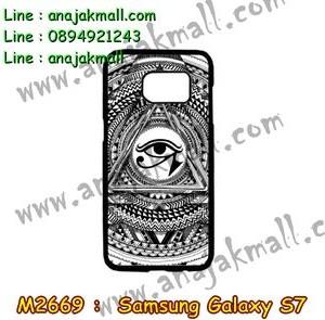M2669-11 เคสแข็ง Samsung Galaxy S7 ลาย Black Eye