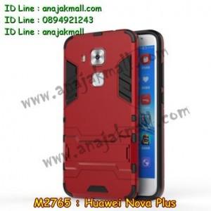 M2765-05 เคสโรบอท Huawei Nova Plus สีแดง