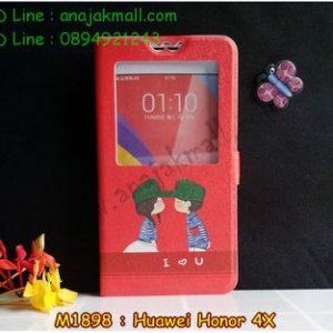 M1898-02 เคสโชว์เบอร์ Huawei Honor 4X ลาย Love U