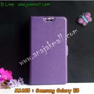 M1685-01 เคสฝาพับ Samsung Galaxy E5 สีม่วง