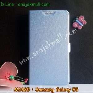 M1685-03 เคสฝาพับ Samsung Galaxy E5 สีฟ้า