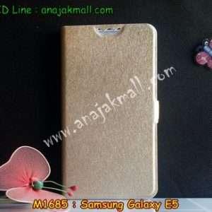 M1685-04 เคสฝาพับ Samsung Galaxy E5 สีทอง