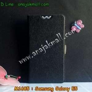 M1685-05 เคสฝาพับ Samsung Galaxy E5 สีดำ