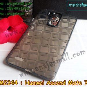 M2344-05 เคสยางใส Huawei Ascend Mate7 ลาย Window สีดำ