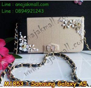 M1853-01 เคสกระเป๋า Samsung Galaxy A5 ลาย White Flower