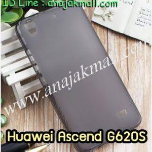M1329-01 เคสยาง Huawei Ascend G620S สีดำ
