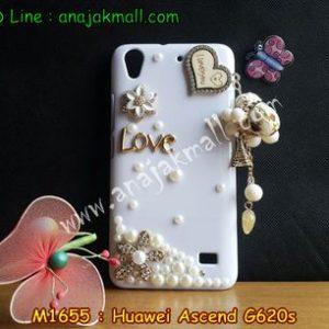 M1655-02 เคสประดับ Huawei Ascend G620S ลาย Love