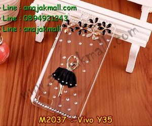M2037-02 เคสประดับ Vivo Y35 ลาย Black Ballet