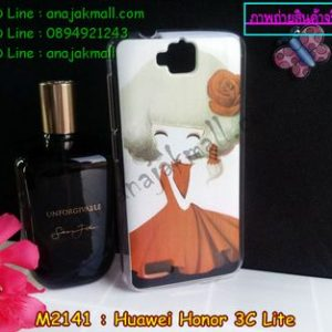 M2141-01 เคสแข็ง Huawei Honor 3C Lite ลาย Woodily