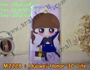 M2228-09 เคสยาง Huawei Honor 3C Lite ลาย PinPin