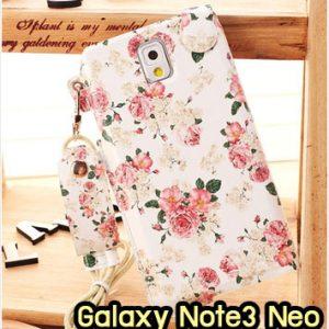 M949-06 ซองหนัง Samsung Galaxy Note3 Neo ลาย Flower I