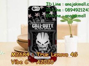 M2684-29 เคสยาง True Lenovo 4G Vibe C ลาย Black OPS