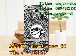 M2684-32 เคสยาง True Lenovo 4G Vibe C ลาย Black Eye
