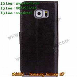 M2801-02 เคสฝาพับ Samsung Galaxy S7 สีดำ