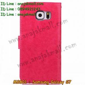 M2801-05 เคสฝาพับ Samsung Galaxy S7 สีชมพู