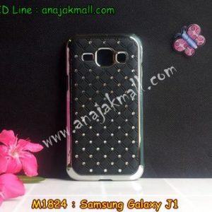 M1824-02 เคสแข็งประดับ Samsung Galaxy J1 สีดำ