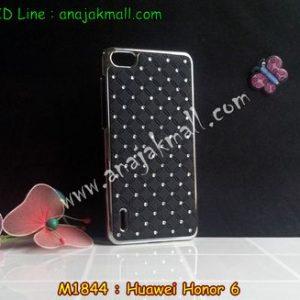M1844-01 เคสแข็งประดับ Huawei Honor 6 สีดำ
