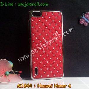 M1844-03 เคสแข็งประดับ Huawei Honor 6 สีแดง