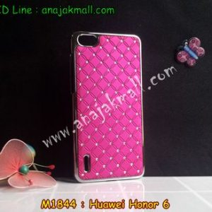 M1844-04 เคสแข็งประดับ Huawei Honor 6 สีกุหลาบ