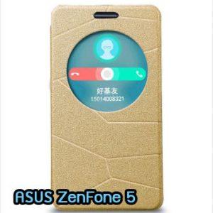 M819-03 เคสฝาพับ ASUS ZenFone 5 สีทอง