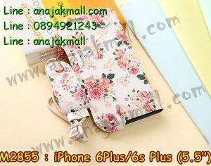 M2855-09 ซองหนัง iPhone 6 Plus/6s plus ลาย Flower I