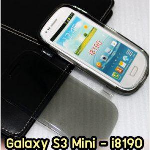 M1028-03 เคสฝาพับ Samsung S3 Mini สีเทา