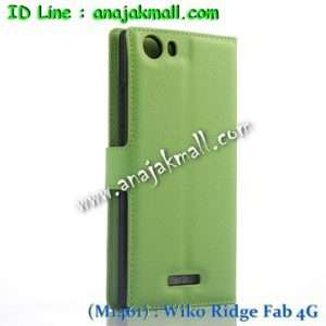 M1461-02 เคสฝาพับ Wiko Ridge Fab 4G สีเขียว