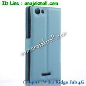 M1461-08 เคสฝาพับ Wiko Ridge Fab 4G สีฟ้า