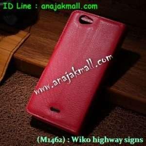 M1462-02 เคสฝาพับ Wiko Highway Signs สีแดง