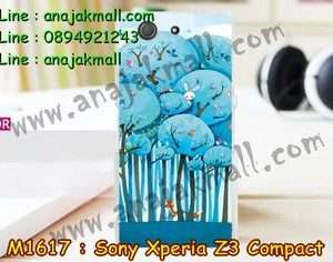 M1617-19 เคสแข็ง Sony Xperia Z3 Compact ลาย Blue Tree
