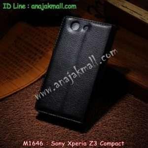 M1646-01 เคสฝาพับ Sony Xperia Z3 Compact สีดำ