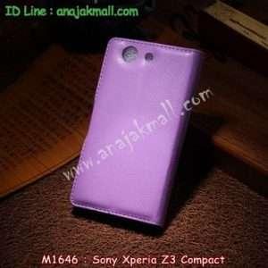 M1646-04 เคสฝาพับ Sony Xperia Z3 Compact สีม่วง