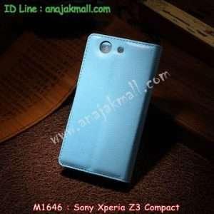 M1646-05 เคสฝาพับ Sony Xperia Z3 Compact สีฟ้า