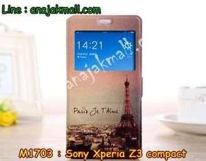 M1703-14 เคสโชว์เบอร์ Sony Xperia Z3 Compact ลายหอไอเฟล II