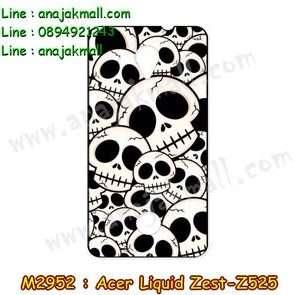 M2952-04 เคสยาง Acer Liquid Zest (Z525) ลาย Skull II