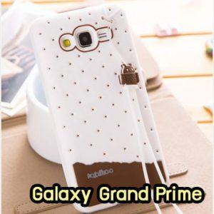 M1415-04 เคสซิลิโคน Samsung Galaxy Grand Prime สีขาว