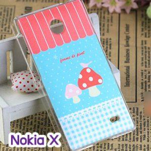 M748-04 เคสแข็ง Nokia X ลาย Mushroom