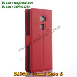 M1984-03 เคสฝาพับ Huawei Mate S สีแดง