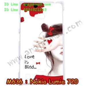 M636-07 เคสแข็ง Nokia Lumia 720 ลาย Love is Blind