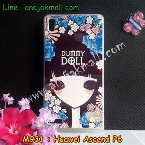 M931-29 เคสยางขอบใส Huawei Ascend P6 ลาย Dummy Doll