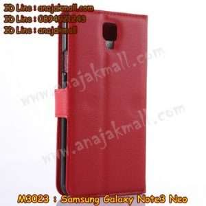 M3023-02 เคสฝาพับ Samsung Galaxy Note3 Neo สีแดง