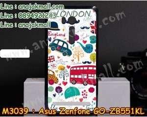 M3039-09 เคสแข็ง Asus Zenfone GO-ZB551KL ลาย London