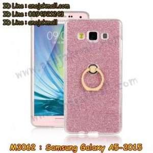 M3062-03 เคสยางติดแหวน Samsung Galaxy A5 (2015) สีชมพู