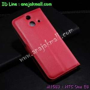 M1583-02 เคสฝาพับ HTC One E8 สีแดง