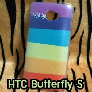 M687-01 เคส HTC Butterfly S ลาย Colorfull Day